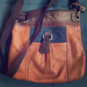 Slouchy Rustic Leather Side Satchel